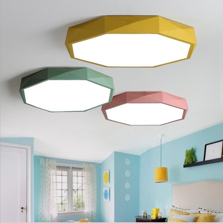 Ceiling Lights Led Lamp Circular Ceiling Lights 220v Engergy Saving Minimalism 12w 18w 24w Modern Droplight Tricolor For Living Room Bathroom Ceiling Lights & Fans