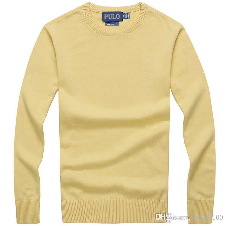 Suéter para hombre Punto de punto Suéter Polón Jerseys Jerseys Hombres Suéteres O-cuello 95% Tamaño de algodón S-XXL
