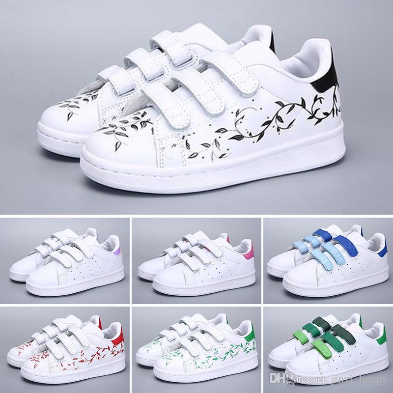 promo code 827a0 82624 Acquista Adidas Superstar Caldo Skateboarding Scarpe Bambino Bambini Scarpe Superstar  Sneakers Donna Bambini Zapatillas Deportivas Mujer Lovers Sapatos ...