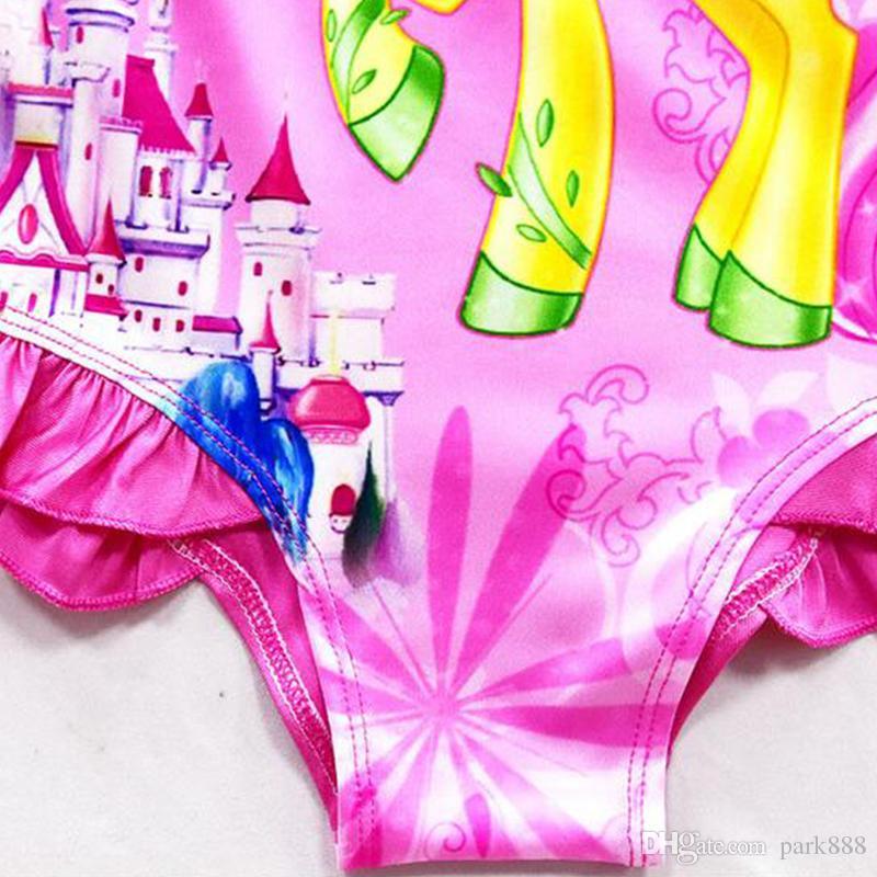 6 diseño INS Unicorn traje de baño de una pieza Bowknot traje de baño Bikini Big Kids Summer Infant Swim trajes de baño ropa de playa