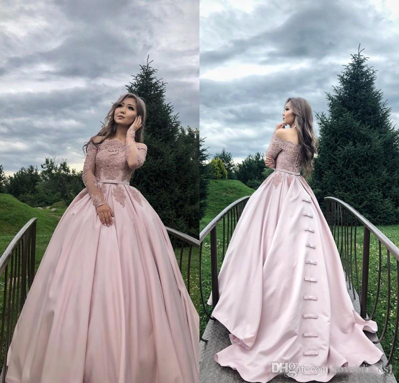 1a885bdda7 2018 Luxury Pink Ball Gown Quinceanera Dresses Lace Applique Bateau Neck  Sweet 16Evening Wears Custom Made Quinceanera Dress Shop Quinceanera Dress  Styles ...