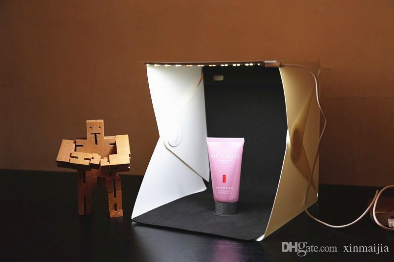 Portable white led light photography tent mini folding photo studio shooting kit box backdrop cube box hot waterproof photography photo studio photo light