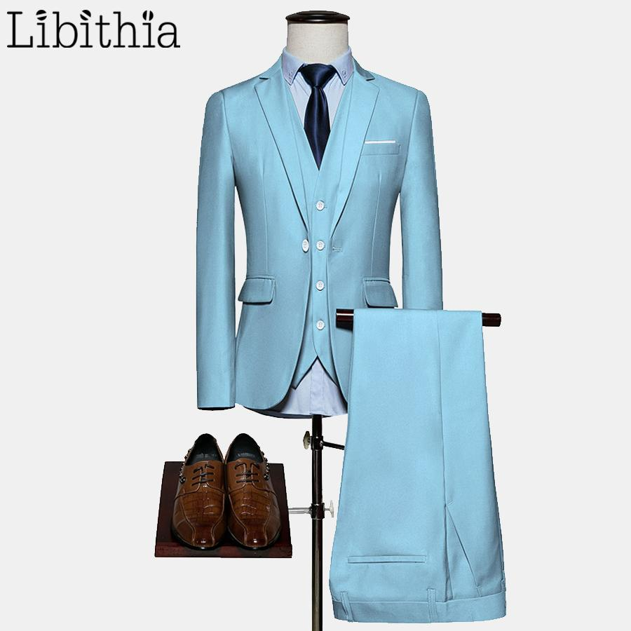 2018 Men Suits Big Size M 6xl One Button Slim Fit Jacket Wedding ...