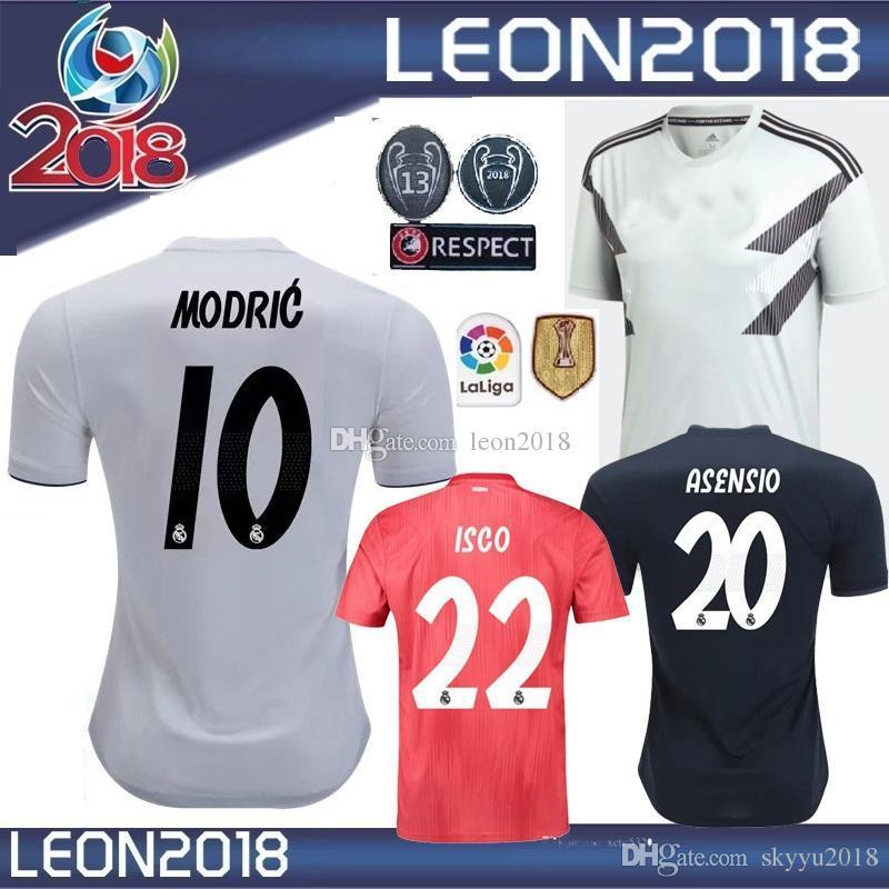 80f00449c SIZE S-XXL 2018 2019 Real Madrid Soccer Jersey 18 19 MODRIC ISCO ...