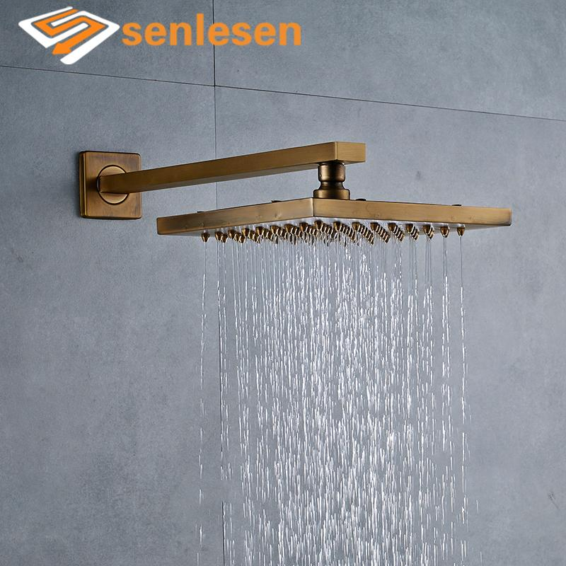 Wholesale And Retail Antique Brass Rain Shower Head Top Over Head