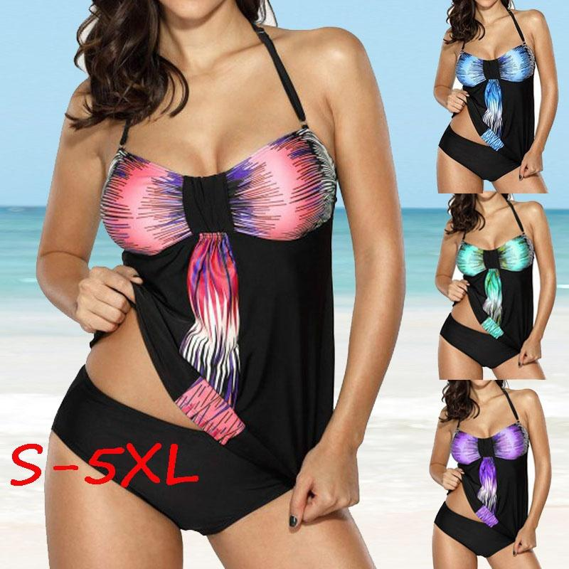 7d97973397 2019 Sexy Women S Fashion Two Pieces Bathing Suit Padded Open Back ...