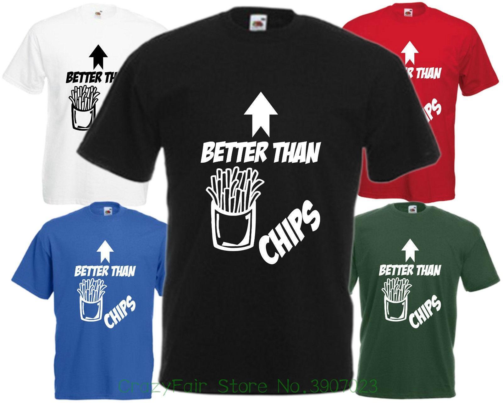Top Ten Weihnachtsessen.Besser Als Chips T Shirt Weihnachten Oberteil Comedy Vatertag Nahrung T Shirt Summer Famous Clothing