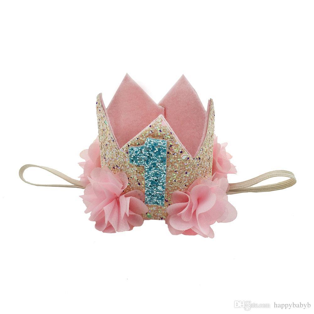 Bebek Kız Mermaid bantlar kızlar Doğum Günü Partisi plaj parti Tiara hairbands çocuklar prenses saç aksesuarları Glitter Sparkle Sevimli Headbands