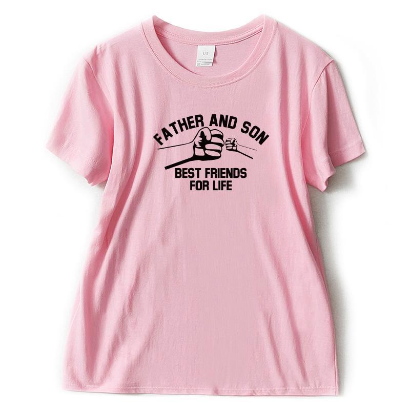 78fc231ac Compre Camiseta Para Mujer Día Del Padre Camiseta Para Mujer Padre E Hijo  Mejores Amigos Para Toda La Vida Estampado Camiseta Para Niñas Con Estilo  De ...
