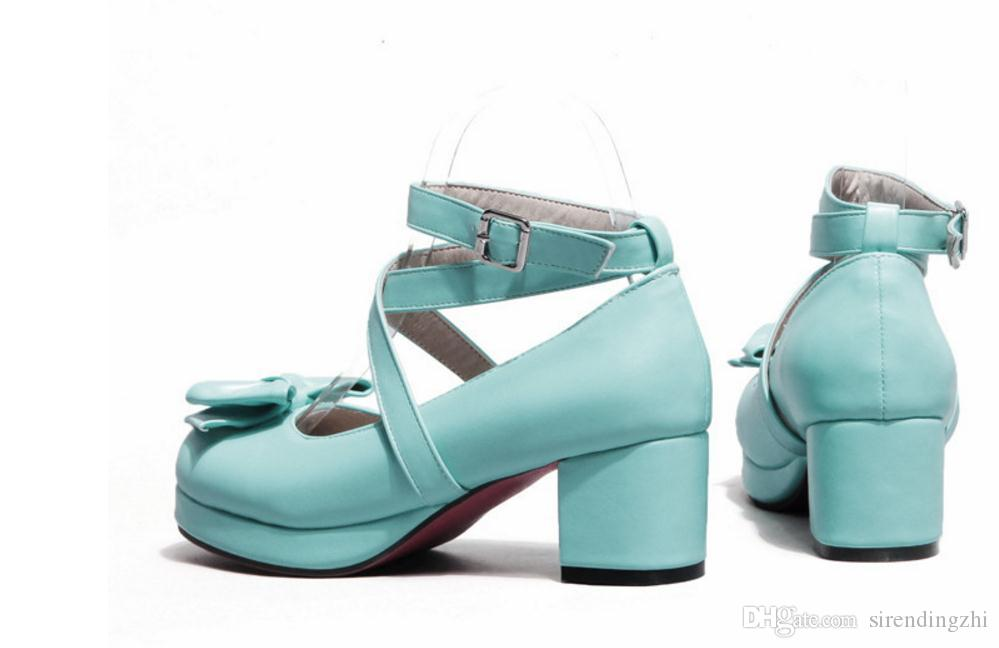 Japanese Princess Lolita original female butterfly sweet crude in the documentary shoes