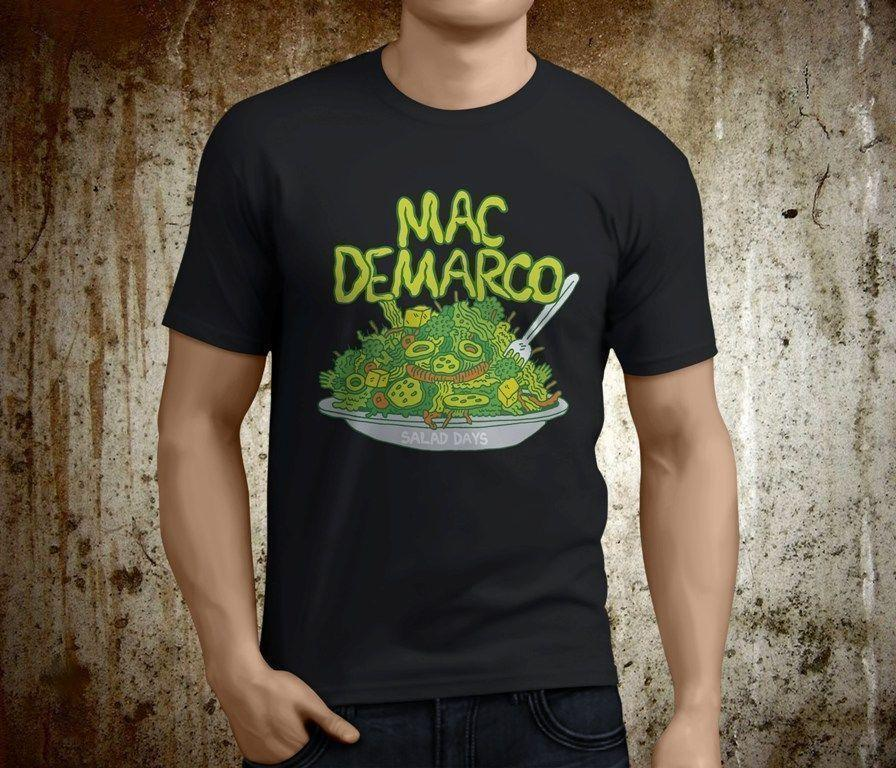 a2d420acd Mac DeMarco Salad Days Pop Rock Singer Mens Black TShirt Family T Shirts  Printed Shirt From Yuxin0002, $14.67| DHgate.Com