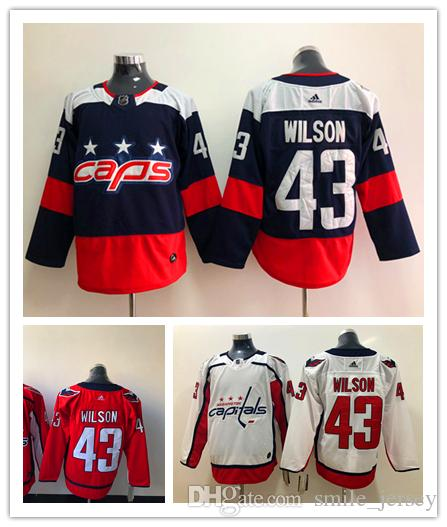 c5a2e41fc 2019 New Mens 43 Tom Wilson Washington Capitals Hockey Jerseys ...