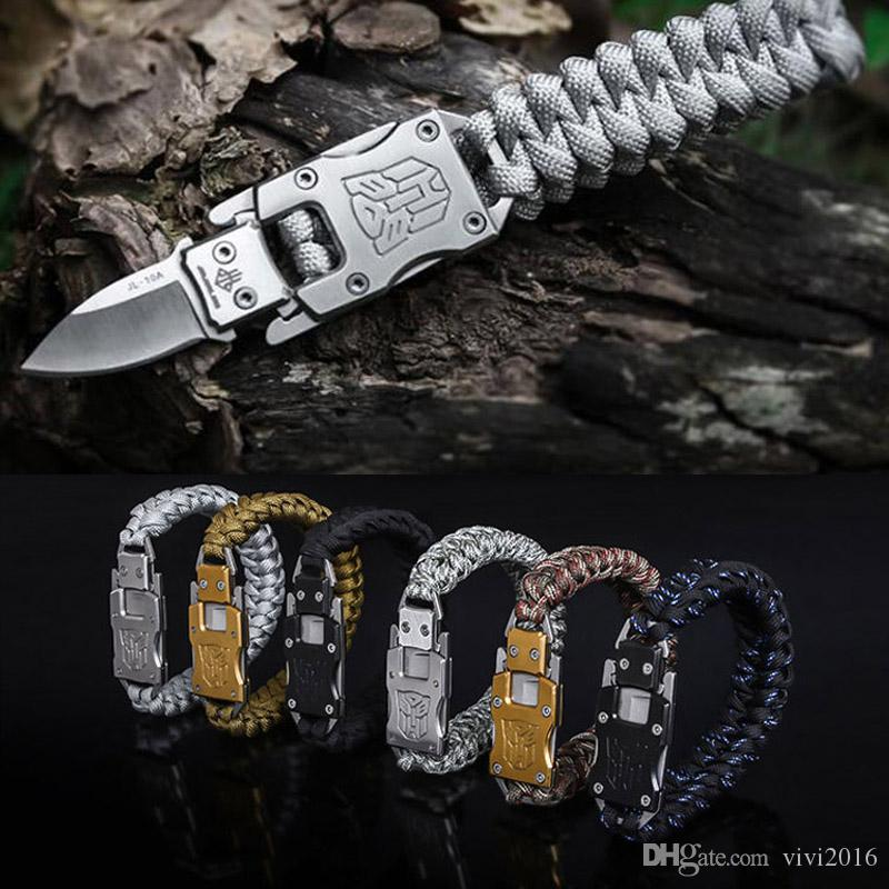 Self Defense Tactical Paracord Bracelet 7 Core Umbrella Rope Army