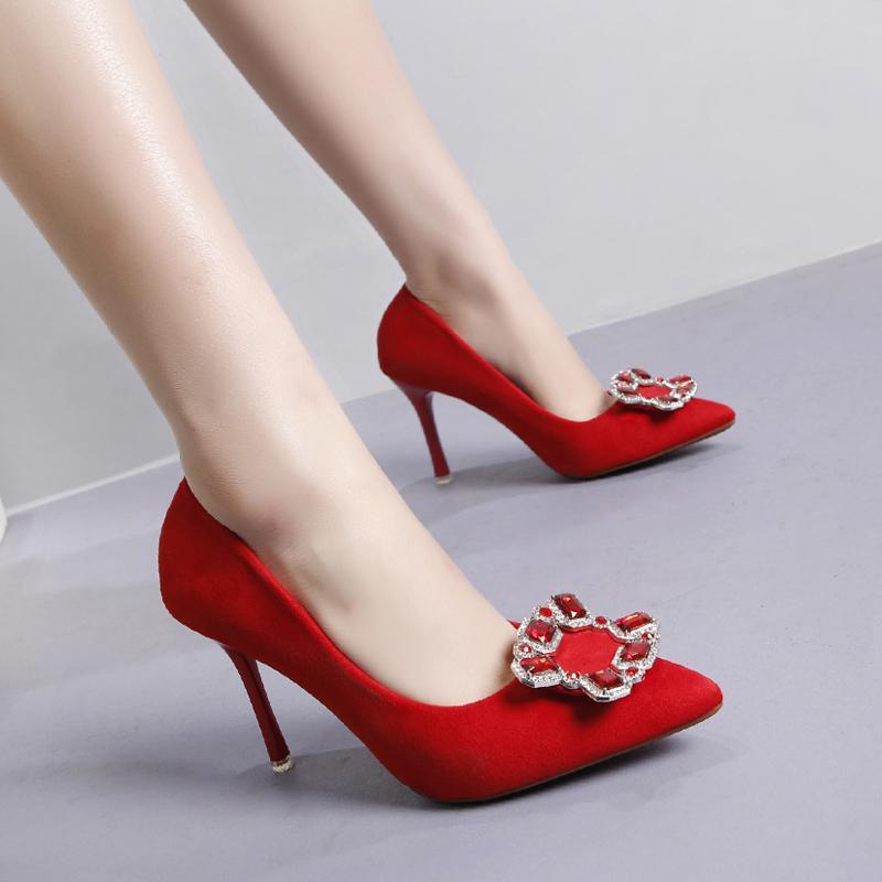 941fb6a40df Compre 9 CmStiletto Zapatos De Tacón Alto Zapatos Rojos Para Las Mujeres  Nupciales Talones De La Boda Rhinestone Moda Zapatos De Tacón Alto De Las  Mujeres ...