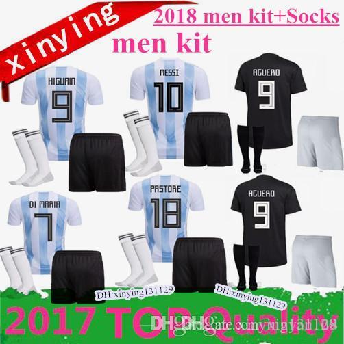 1a3b9574d52 2019 MEN 2018 Soccer Jersey KITS Argentina World Cup MESSI DYBALA Argentina  Home Away AGUERO DI MARIA HIGUAIN 18 19 Football Shirts From Xinyan168