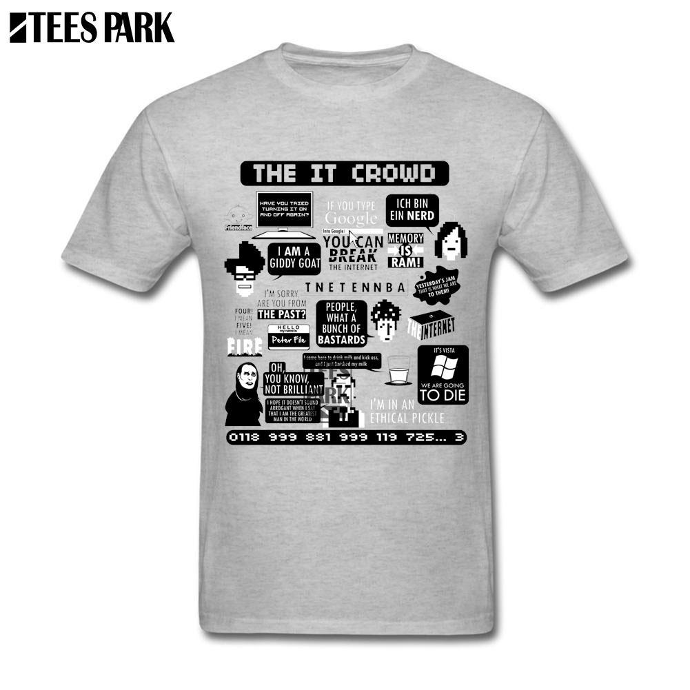 77ea03d31d1 T Shirts The IT Crowd Quotes Short T Shirt Vintage Shirt Unique Men Grey  Men Comprar 2018 Top Vintage Tees Unique T Shirts From Glorying, $23.04|  DHgate.Com