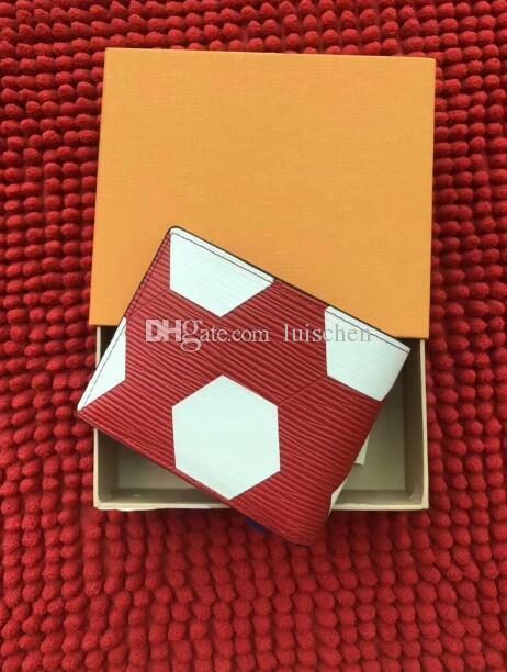 Billetera de alta calidad BRAZZA Monedero plegable y cremallera cartera de fútbol con cremallera clutch embrague monedero m3294 con caja