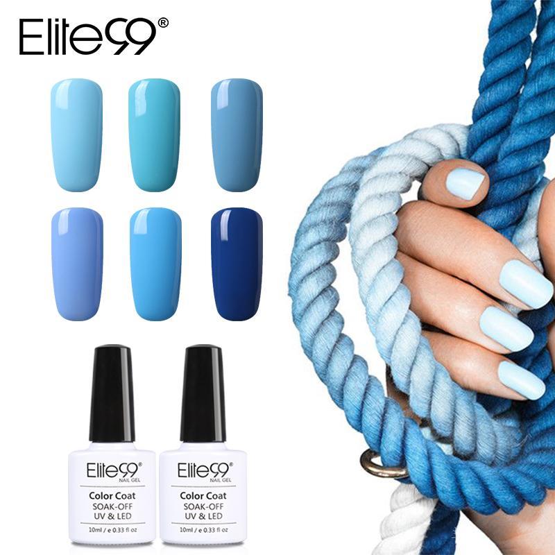 Elite99 10ml Blue Color Series Nail Polish Long Lasting Gel Varnish ...