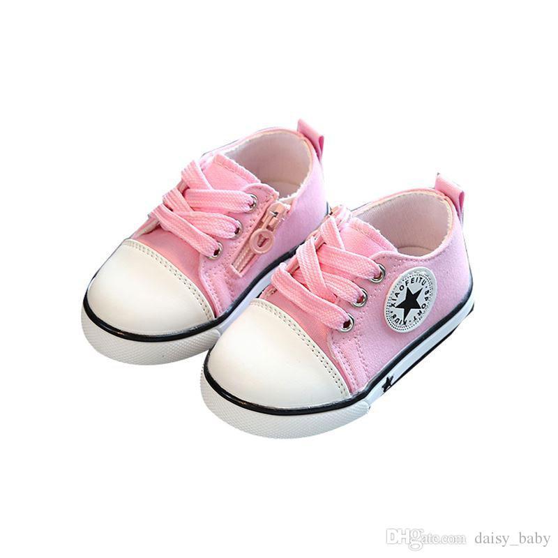 70eabf5d656eee Großhandel Neue Babyschuhe Breathable Segeltuchschuhe 1 3 Jahre Alte Jungen  Schuhe 4 Farbe Bequeme Mädchen Baby Turnschuhe Scherzt Kleinkind Schuh   39  Von ...