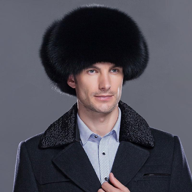 0e827c1cc New men s winter warm hat genuine fox fur hat fox fur protection ear cap  leather raccoon cap men s HL-01