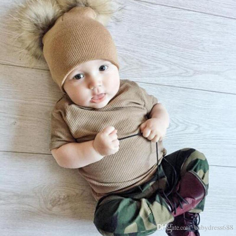 INS Baby Hats Trendy Beanie Crochet Fashion Beanies Hat Autumn Winter  Newborn Knit Hat Extra Large Double Ball Baby Hair Ball Hat UK 2019 From  Babydress688 ab60f5096251