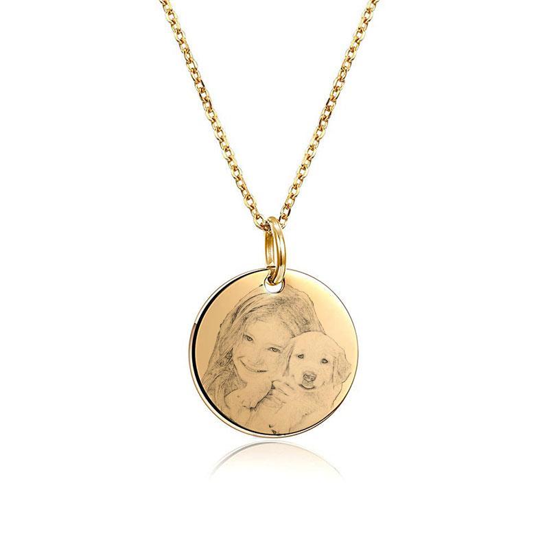 wholesale customized personalized photo engraved necklace girl
