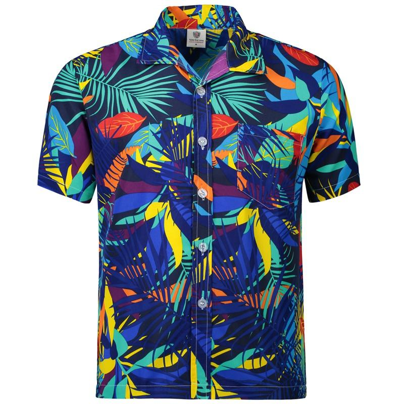 6143605a Hawaiian 2017 Summer Brand New Men Short Sleeve Casual Shirt Men's Beach Hawaii  Shirts Men Floral Clothes Asia Size S-5XL