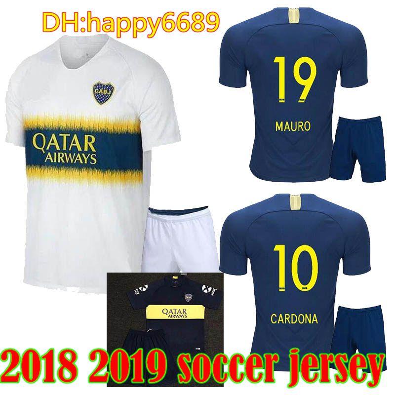 Compre 2018 2019 Camiseta De Fútbol De Boca Juniors Local Lejos KIT DE  ADULTO TEVEZ Gago 18 19 PEREZ Pavon Benedetto JUEGOS DE HOMBRES Camisetas  De Fútbol ... 80e1b2c4b9e30