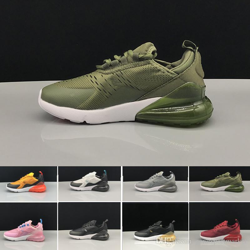 b0e7d93aae1 Compre Nike Air Max 270 27c Airmax Infantil 270 Crianças Tênis Preto Branco  Dusty Cactus 27c Criança Ao Ar Livre Menino Atlético Menina Crianças  Sapatilha ...