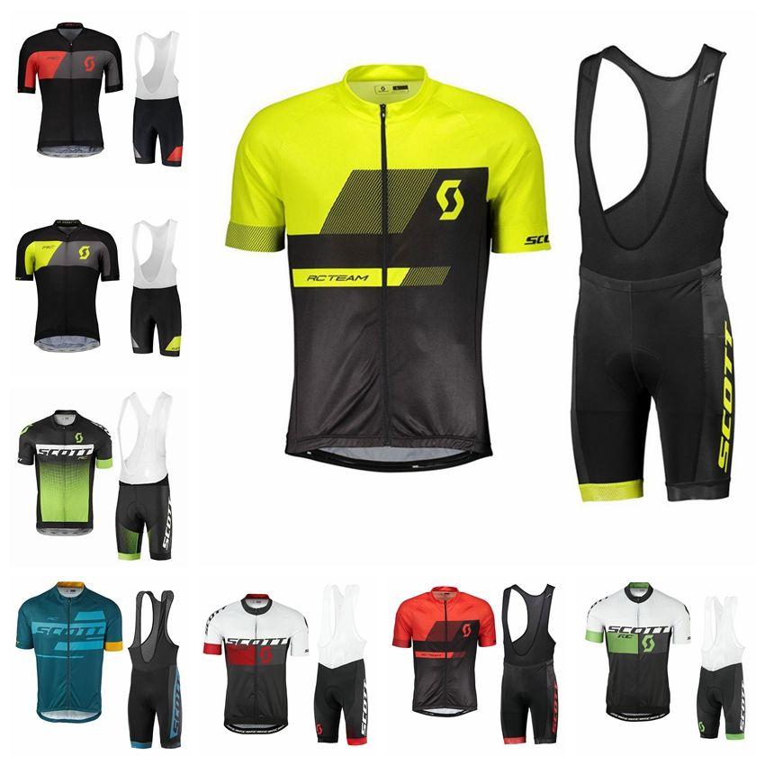 2018 SCOTT Team Cycling Jersey Gel Bib Shorts Suit Ropa Ciclismo New ... b49d84f4a