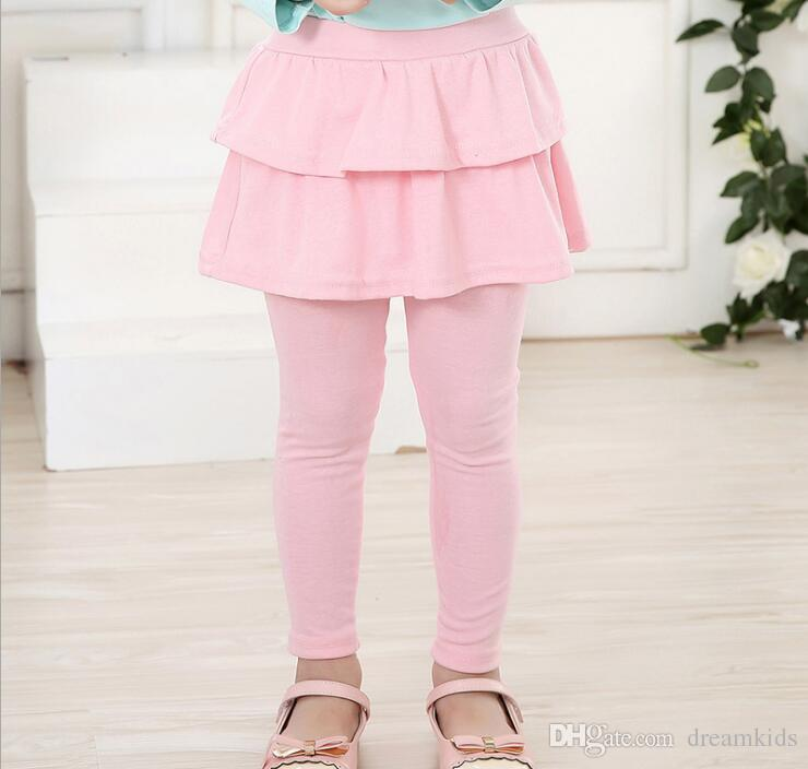 Girl baby pants kids leggings new arrival spring autumn girls leggings Girls Skirt-pants Cake skirt Fake two pieces