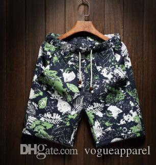 Pantaloncini da spiaggia da uomo Floreale Summer Holiday Hawaii allentati casuali Shorts in lino mezza pantaloncini Vestiti