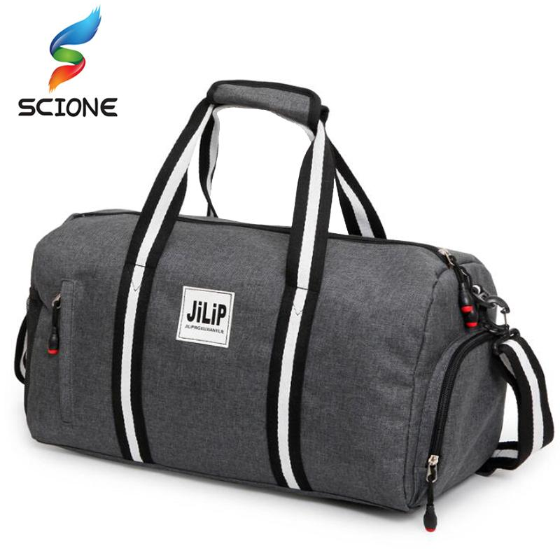 82b1bd6313 2019 2018 A++ Canvas Sport Bag Training Gym Bag Men Woman Fitness Bags  Durable Multifunction Handbag Outdoor Sporting Tote For Male From Shinyday