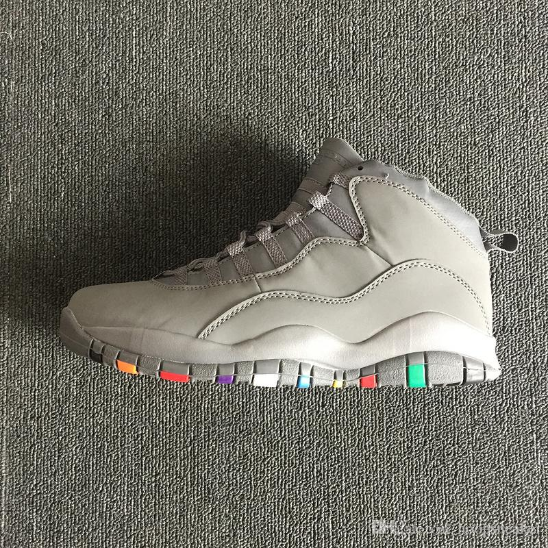 1e249bdd1ed2 2019 2018 J10 Basketball Shoes 10 X Cool Grey Suede White Multi Color NRG  Gray 310805 022 For Men 10s J10 Trainers Man Sports Sneakers Size 8 13 From  ...