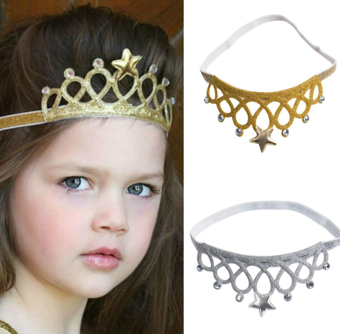 2018 Toddler Infant Baby Girl Crown Headband Birthday Party Tiara Hair Gold  Silver Headwear Accessory Infant Hair Accessories Floral Hair Accessories  From ... 14c82bfd1a4