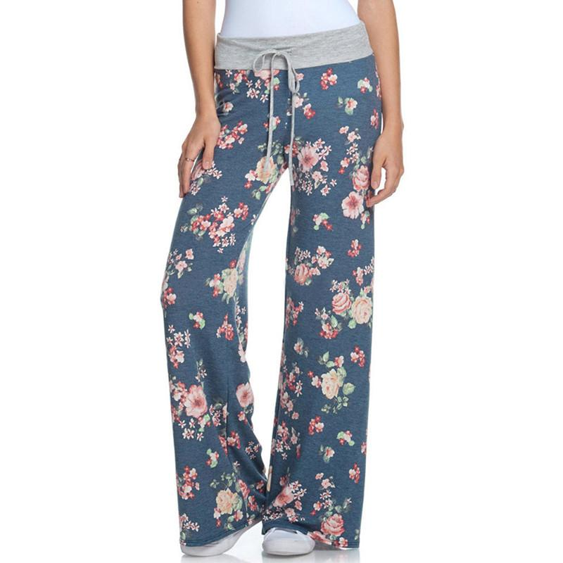 bd21769c080 Fashion Wide Leg Pants Women Plus Size 2018 Summer New Arrival Fashion Elastic  Waist Floral Print Loose Pants Trousers Online with  35.5 Piece on ...