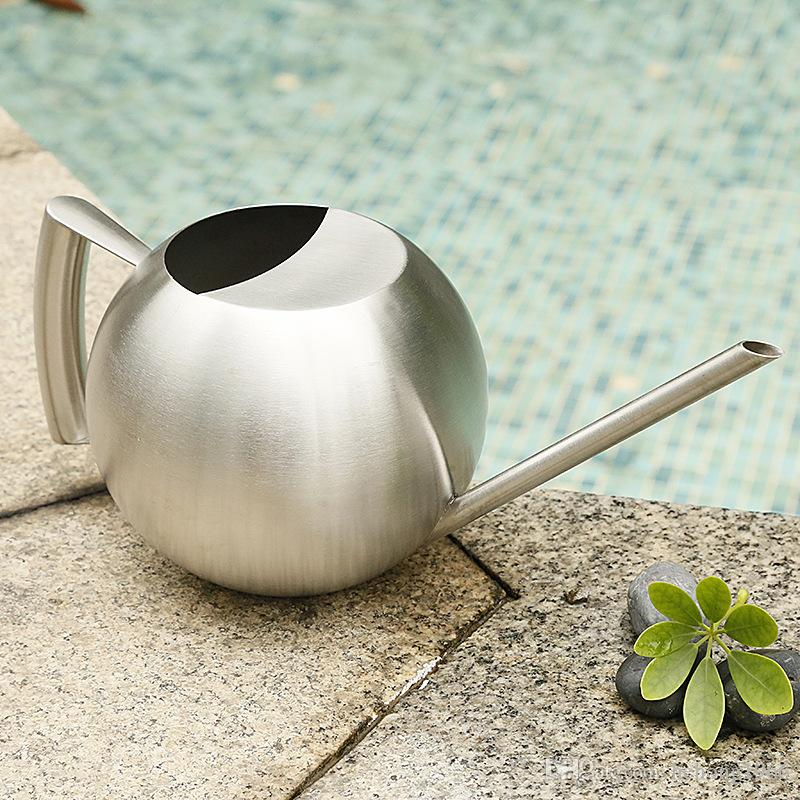 1L High Capacity Ball Round Shape Watering Cans Household Garden Creative Potted Plants Stainless Steel Can Quality 45sh Z