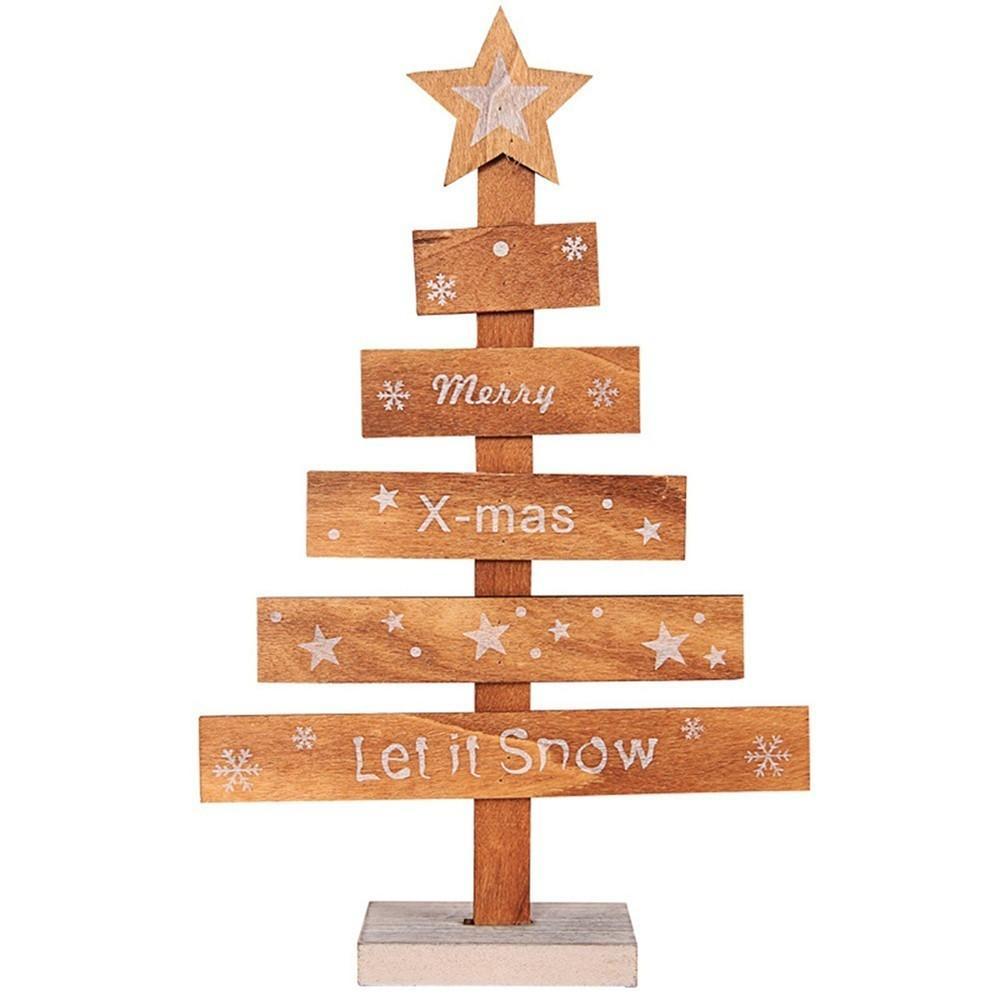 911e3767152e Compre Mini Madera Feliz Árbol De Navidad Escritorio Mesa Decoración  Colgantes Árbol De Navidad Adornos Decoración Del Hogar Accesorios Navidad  2018 Kerst ...