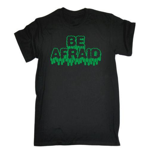 Be Afraid MENS T SHIRT Tee Birthday Gift Funny Scary Halloween Costume Plaid Button Up Shirts Cut Shirt Ideas Macys Online With 1299 Piece