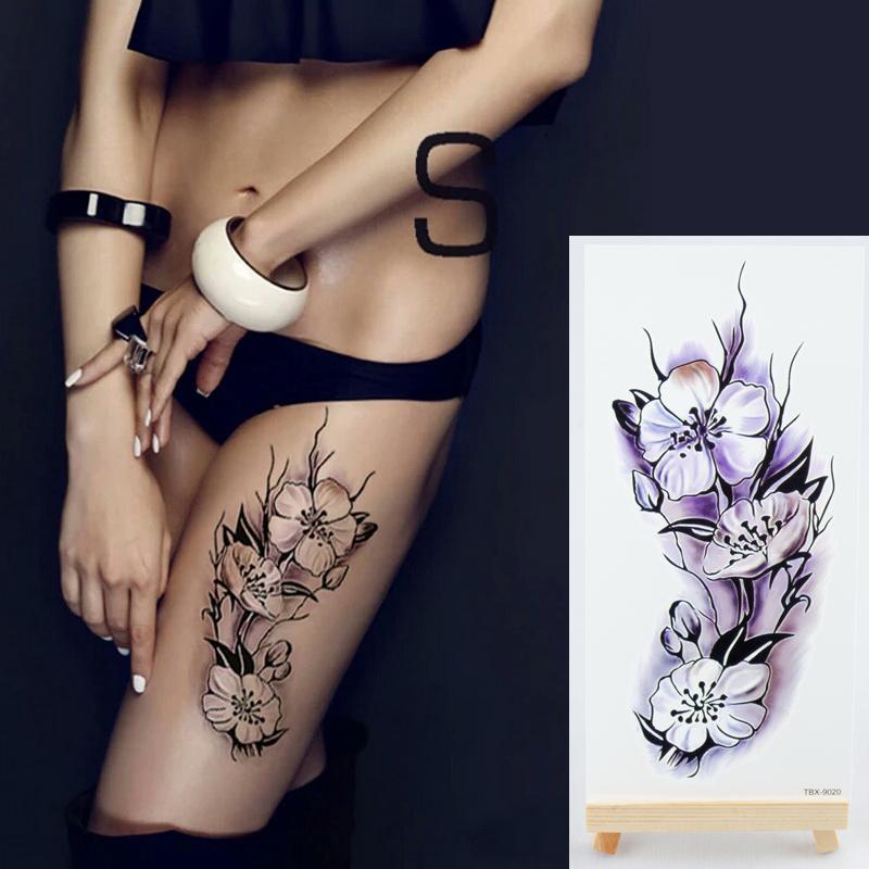 1 Pieza Nueva Fake Temporal Tatuajes Pegatinas 28 Estilos Violeta