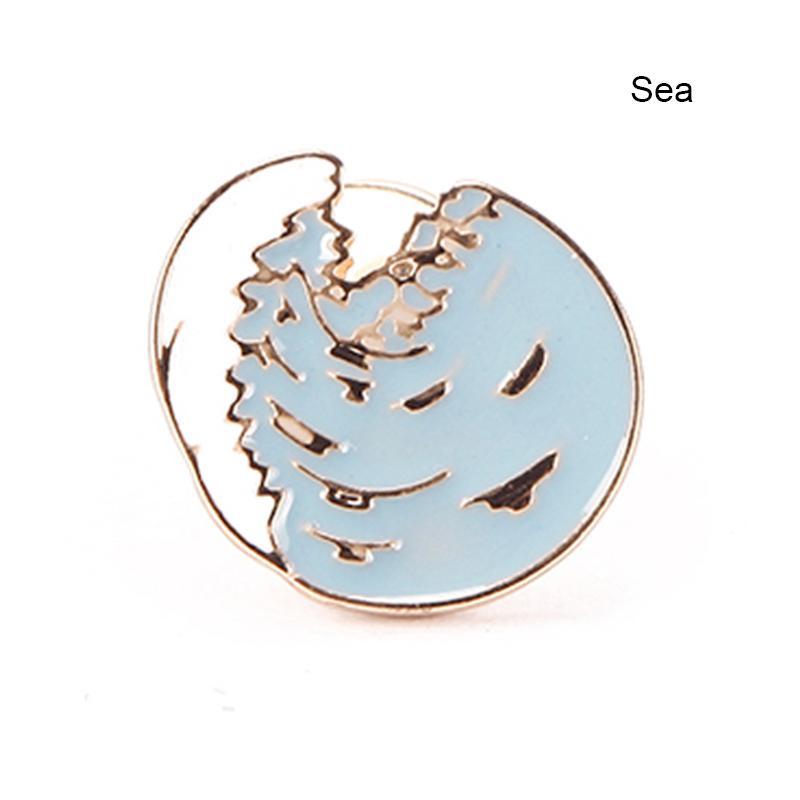 1 Pz Accessori di moda Produttore Estate Sentimenti amorosi Alberi di cocco Tazza di caffè Divertimento Pin Spilla Distintivi # 94039