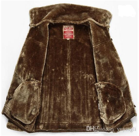 Crazy promotion Winter new men's leather jackets fur coat men plus thicken mens leather jacket lapel sexy costumes male brown black M -3XL