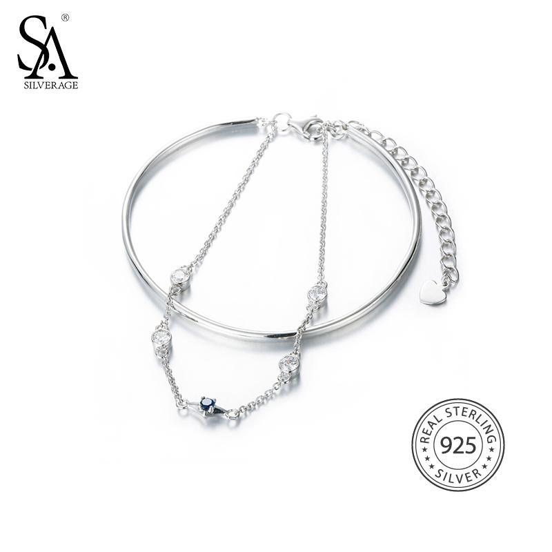 Armreif Solides Silber Haken Armband Damen Sterlingsilber Jewelry & Watches