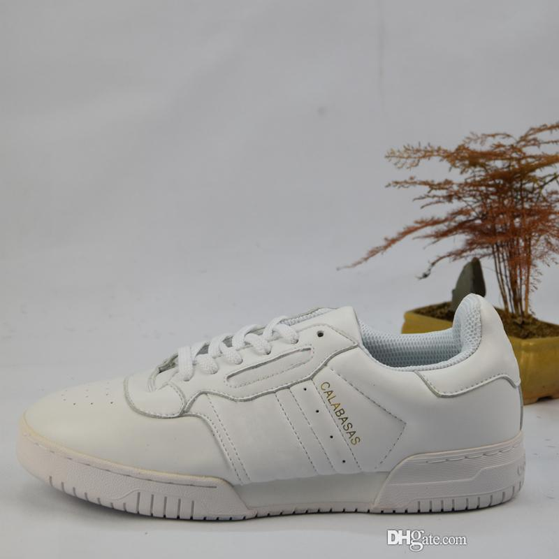 a91785e65d98 2018 Calabasas Powerphase Calabasas CQ1693 Men Women Sneakers Leather Upper  With Lateral Calabasas Outdoor Kanye West Running Shoes Shoe Shopping  Trainers ...