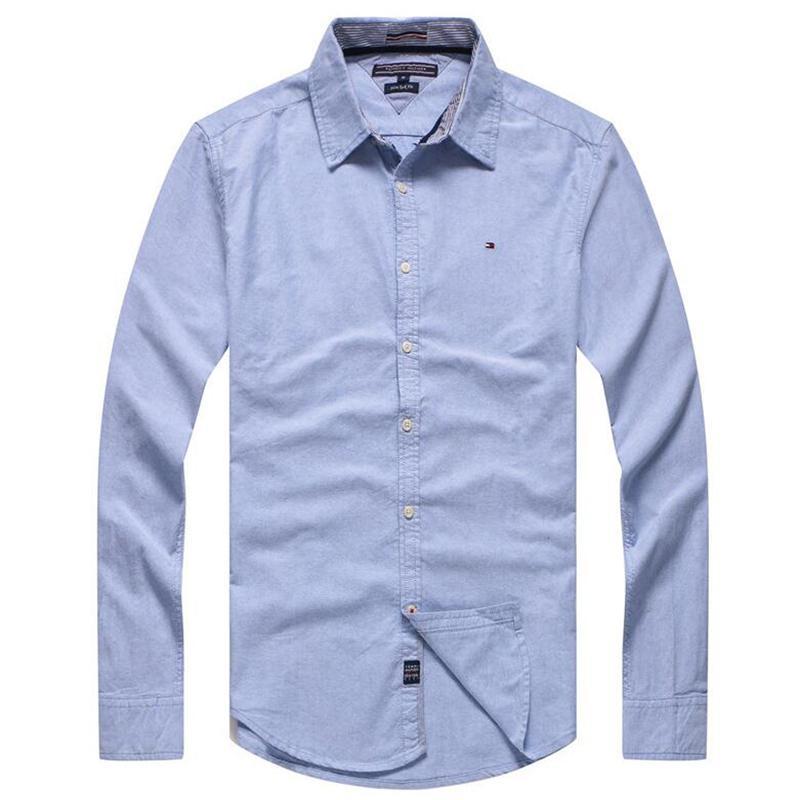 info for cb44e d903c Camicie da uomo Camicie di marca Abbigliamento Moda Camicia casual da uomo  Slim Fit a maniche lunghe Tinta unita Camicie bianche