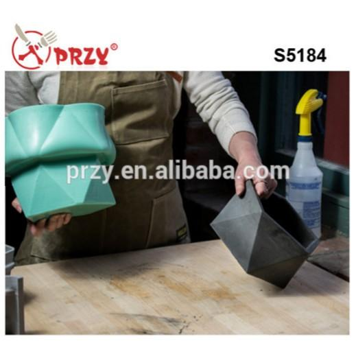 wholesale flower pot silicone mold concrete cement Reusable Mould 3D vase  and planters silicone molds for concrete planter making