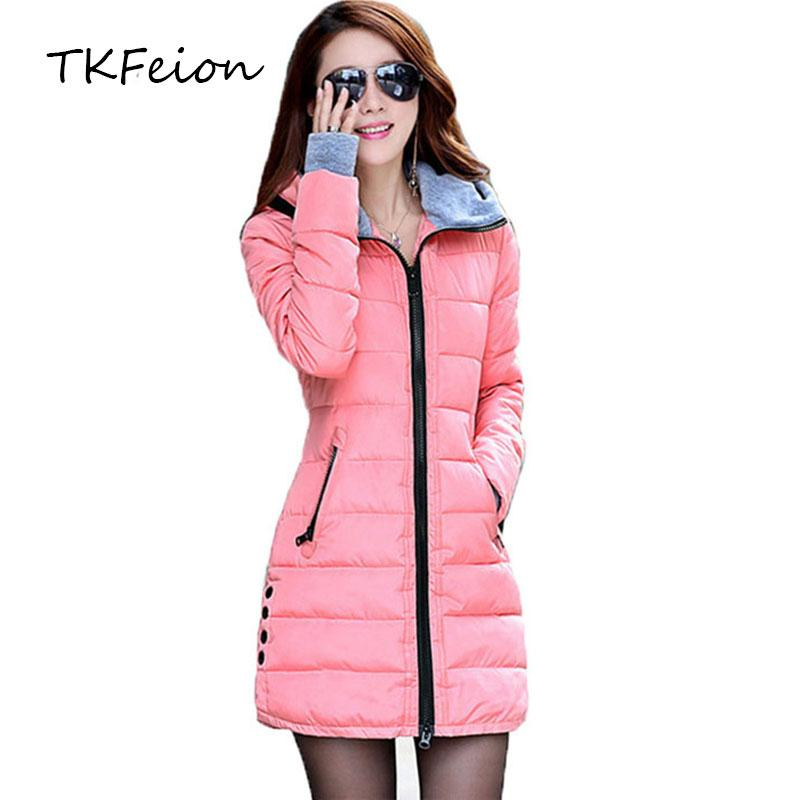 73ad910cd 2018 Women Autumn Winter Hooded Coats Plus 4XL Fashion Ladies Warm Cotton  Padded Long Parka Female Puffer Jackets Casual Clothes
