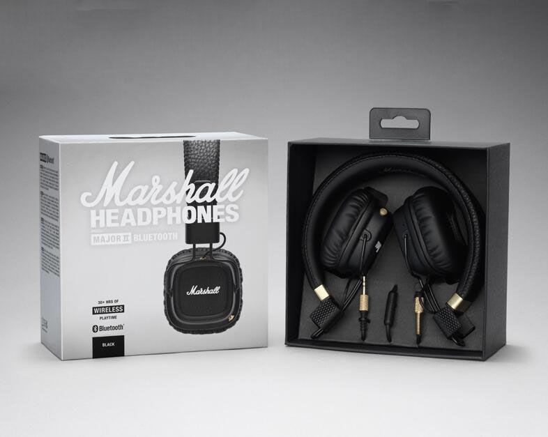 051c6384639 Marshall MAJOR II Bluetooth Headphone Hifi Bass Headset Rock ...