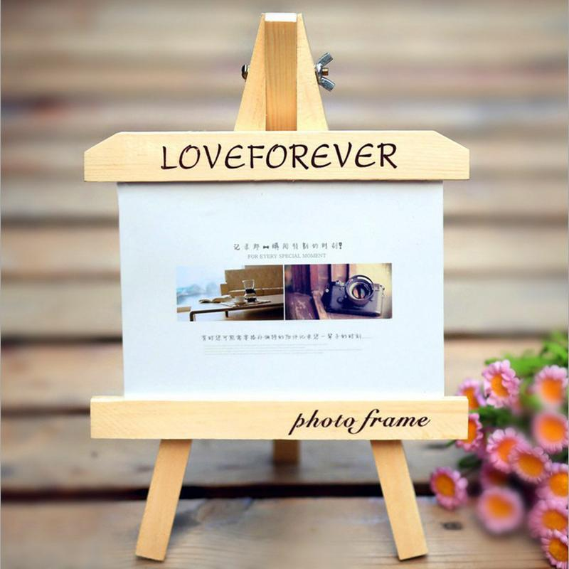 Wooden Easel Photo Frame Home Desktop Decortion Baby Gift Solid ...