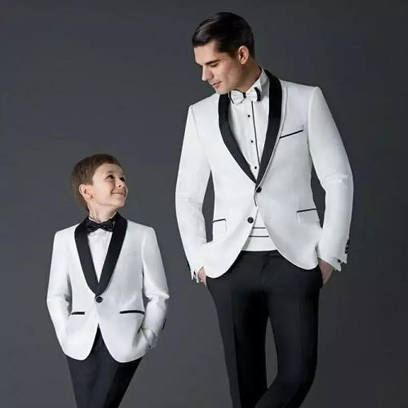 New Style Mens Suits For Weddings White Tuxedo Wedding Prom Groom